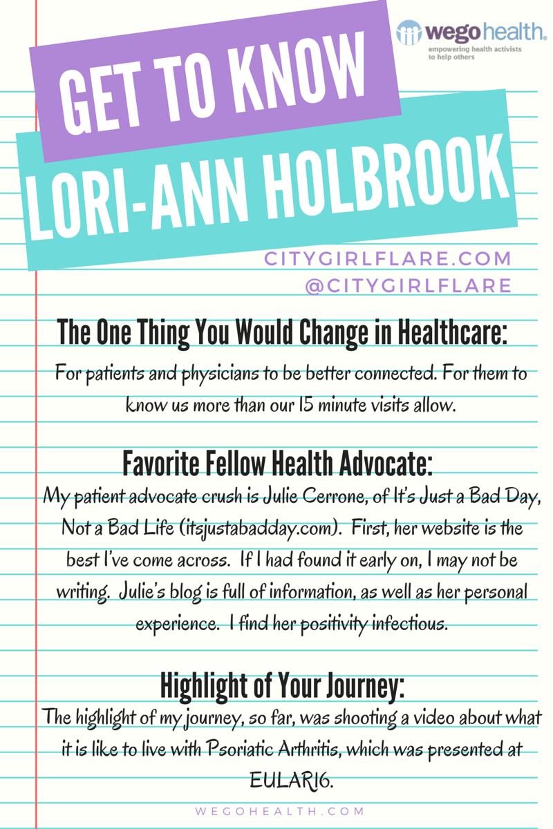 Get To Know Lori-Ann Holbrook | WEGO Health Patient Influencer Spotlight wegohealth.com
